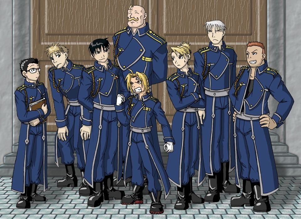 FullMetal Alchemist Haha, how did they get Ed in a uniform