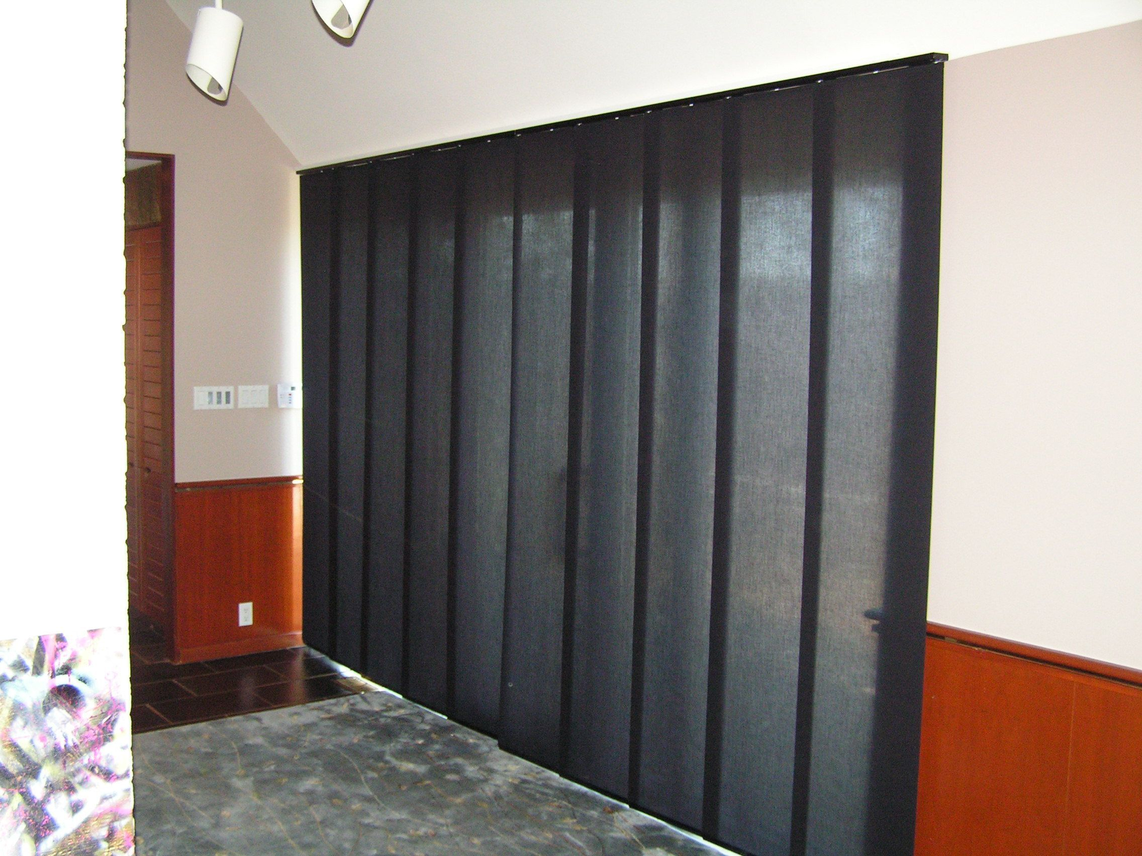 Skyline gliding panels on a patio door love these have them