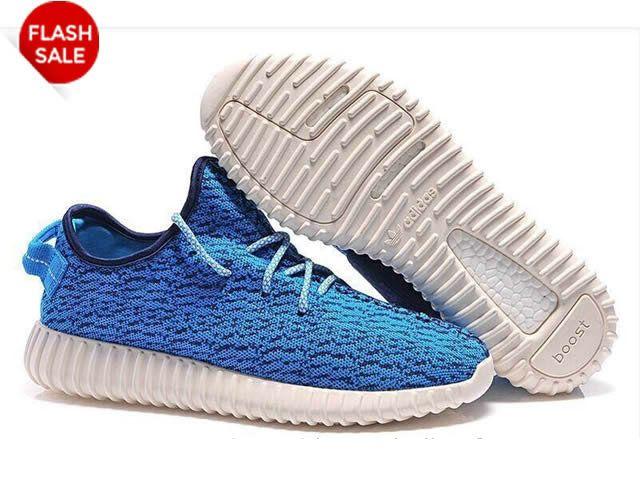 best website 625ee a0362 Adidas Yeezy Boot - Chaussure de Adidas Pas Cher Pour Homme Bleu Blanc
