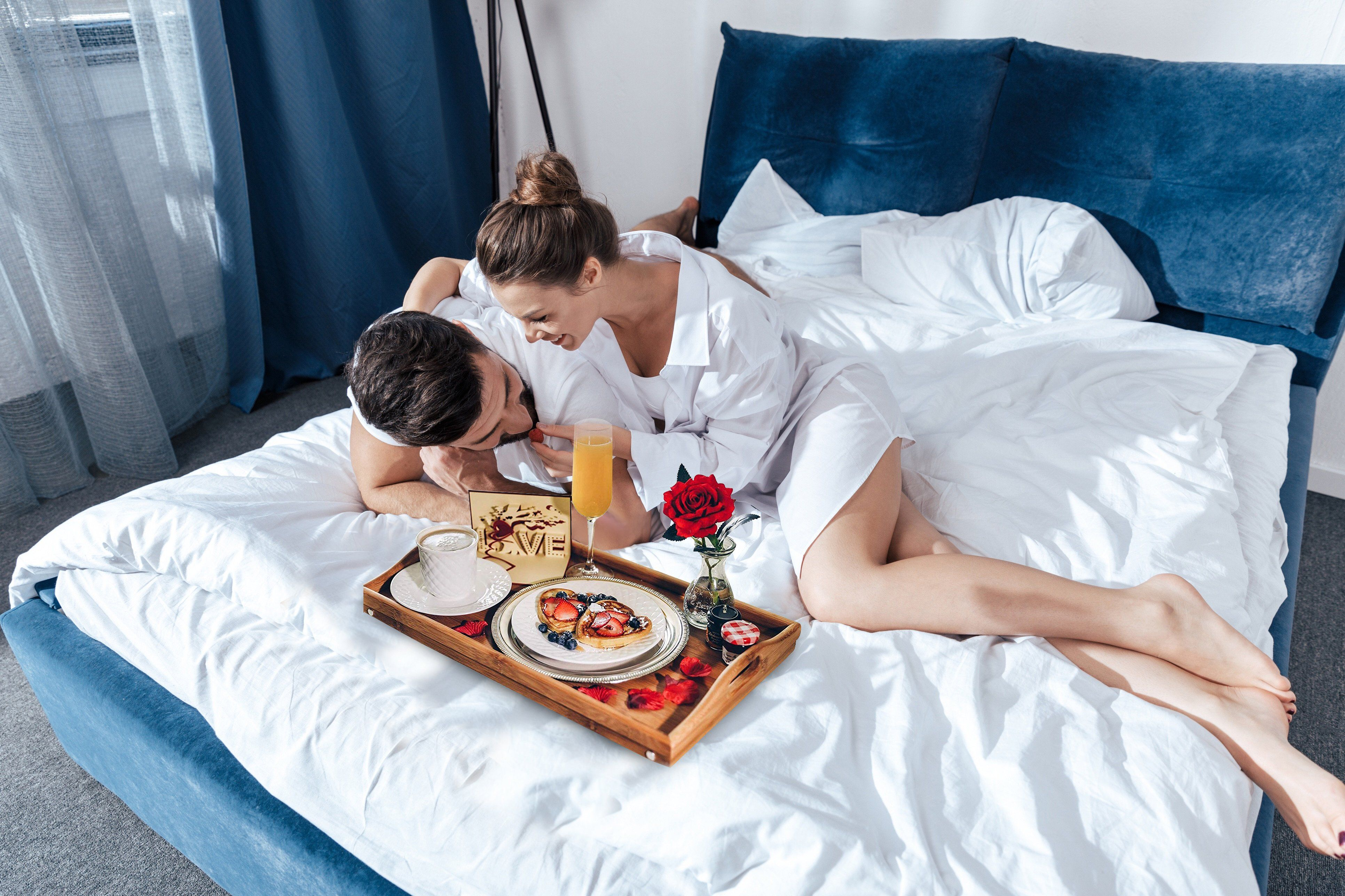 Breakfast In Bed Romance In A Box Romantic Breakfast Breakfast In Bed Bed Romance