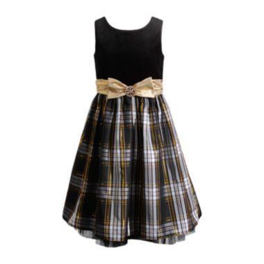 78bc9a1df9d60 Emily West® Sleeveless Velvet Plaid Dress – Girls 7-16 found at  JCPenney
