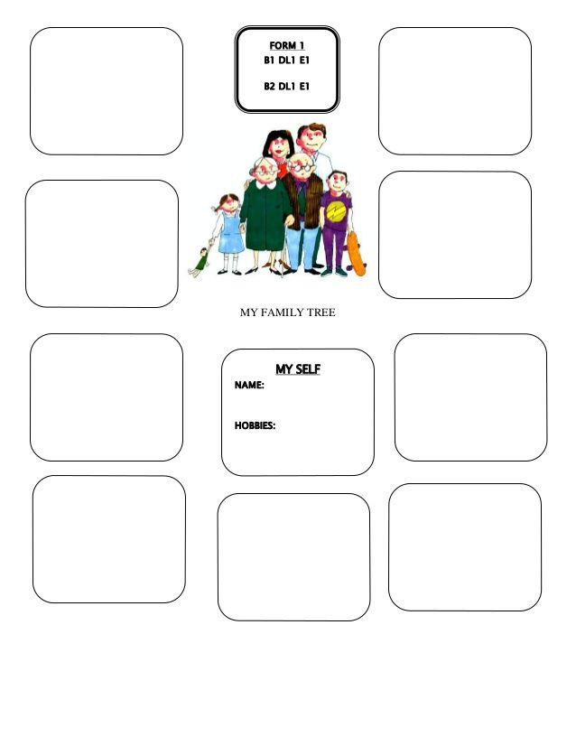 My Family Tree My Family Tree My Self Name Hobbies Form 1 B1 Dl1 E1 B2 Dl1 E1 Family Tree Alphabetical Seating Chart Template Seating Chart Template