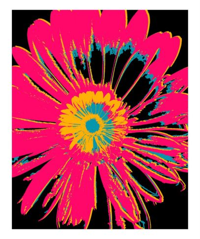 Daisy Big Pop  Art Print  #rickimountain
