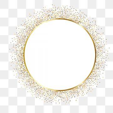 Gold Dividing Line Border Golden Gold Png And Vector With Transparent Background For Free Download Gold Circle Frames Frame Border Design Circle Frames