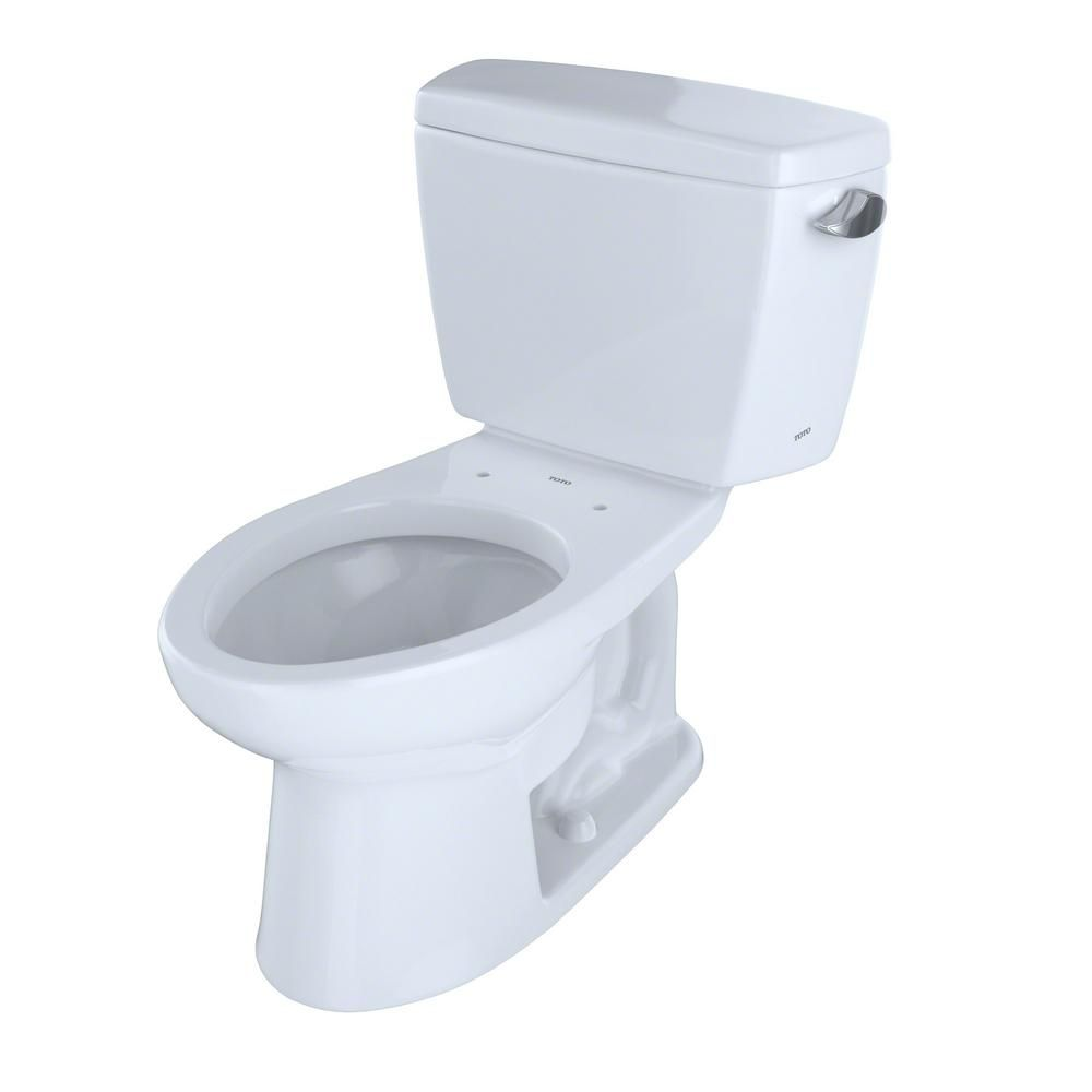 Toto Eco Drake Ada Compliant 2 Piece 1 28 Gpf Single Flush Elongated Toilet With Right Hand Trip Lever In Cotton White Cst744elr 01 Ada Toilet Toilet Traditional Toilets