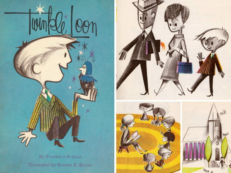 Twinkle Loon, vintage illustrations by Robert E. Barry