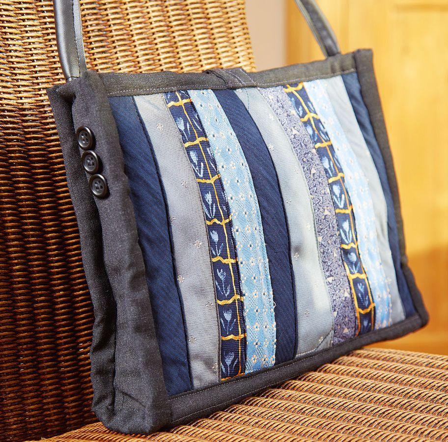 upcycling tasche aus alten krawatten n hanleitungen bei makerist krawatten pinterest. Black Bedroom Furniture Sets. Home Design Ideas