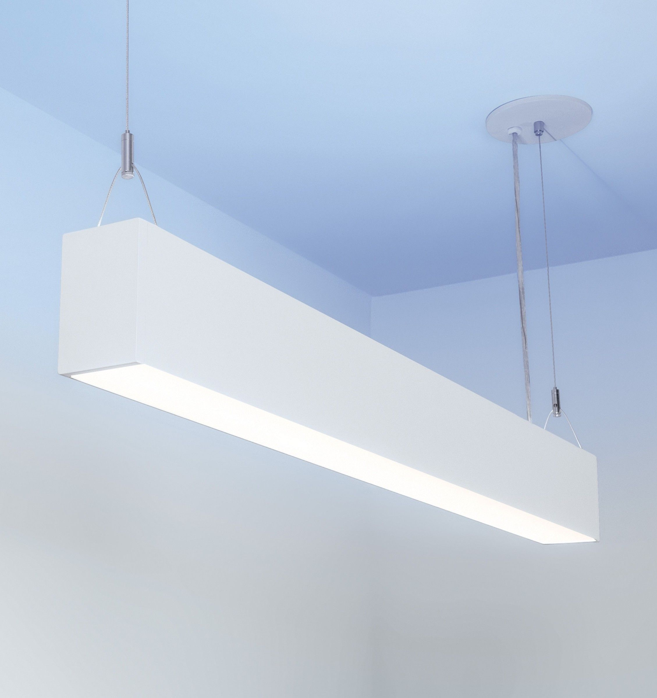 Lumenline Pendant Direct Indirect Part Of A Configurable System Of Linear Le Suspended Lighting Fixtures Modern Track Lighting Kitchen Flexible Track Lighting