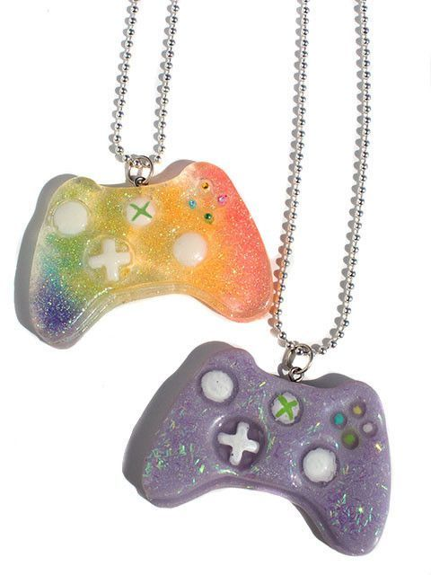 Kawaii gamer xbox remote controller necklace pendant shut up and kawaii gamer xbox remote controller necklace pendant aloadofball Choice Image