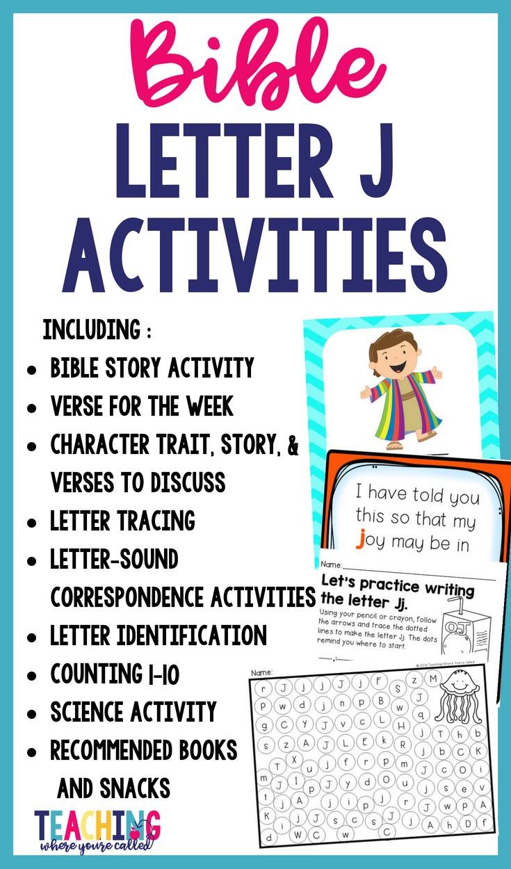 Bible Letter of the Week Letter J Letter j, Letter j
