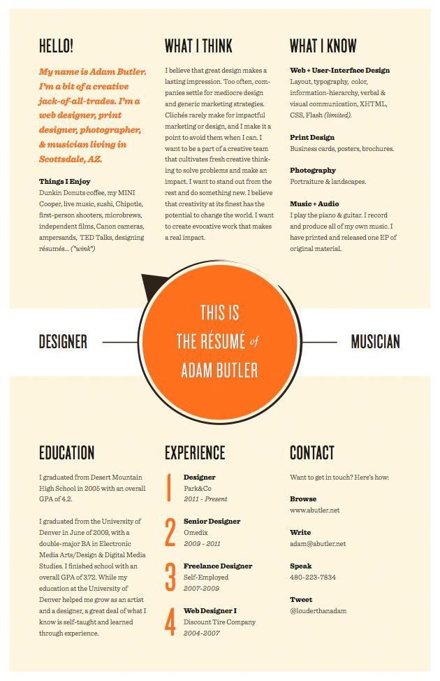 make your resume stand out from the others with a creative but professional resume