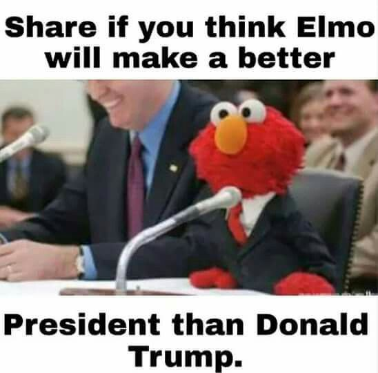 Elmo Vs Trump Elmo Teaches Us How To Love And Hug Each Other Because
