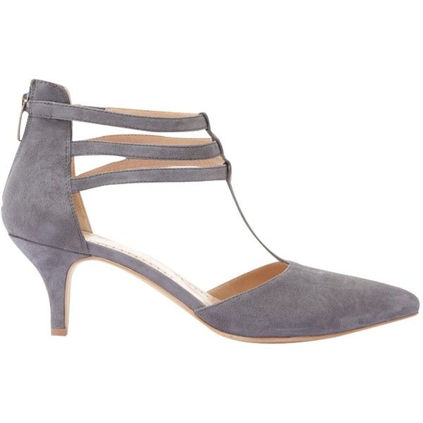 Mint Velvet Elsa T Bar Court Shoes Grey Suede 145 Liked