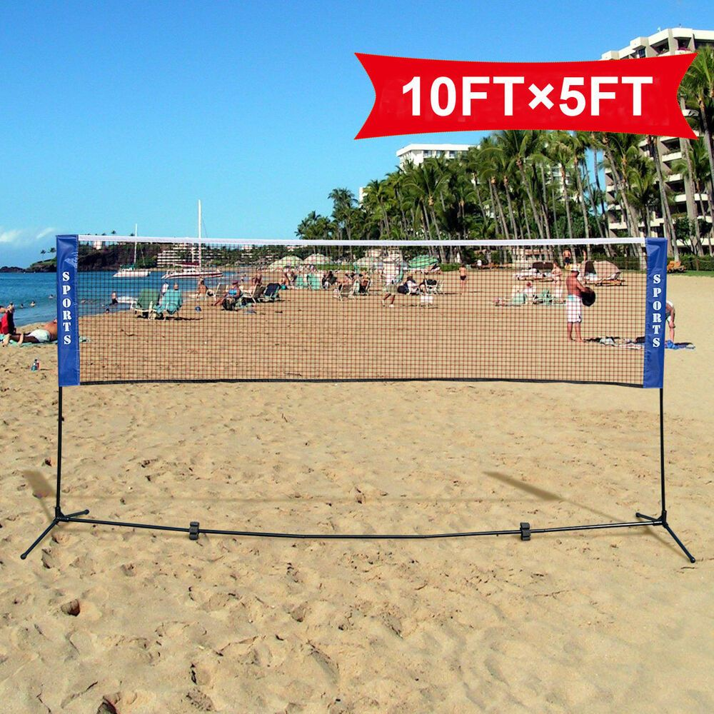 Advertisement Ebay Portable 10 X5 Badminton Beach Volleyball Tennis Training Net With Carrying Bag Beach Tennis Tennis Nets Beach Volleyball