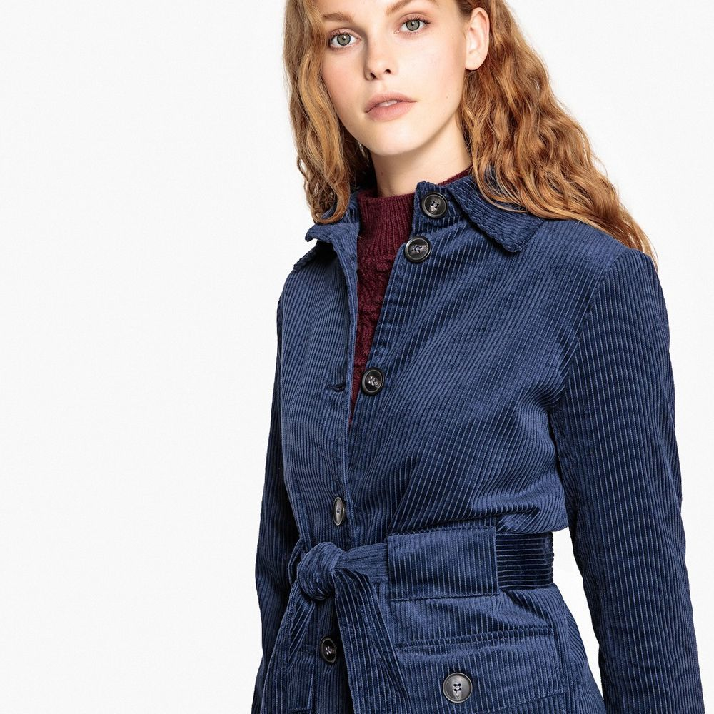 a6b9a0cf5b77a8 La Redoute Collections Womens Belted Corduroy Coat  fashion  clothing   shoes  accessories  womensclothing  coatsjacketsvests (ebay link)