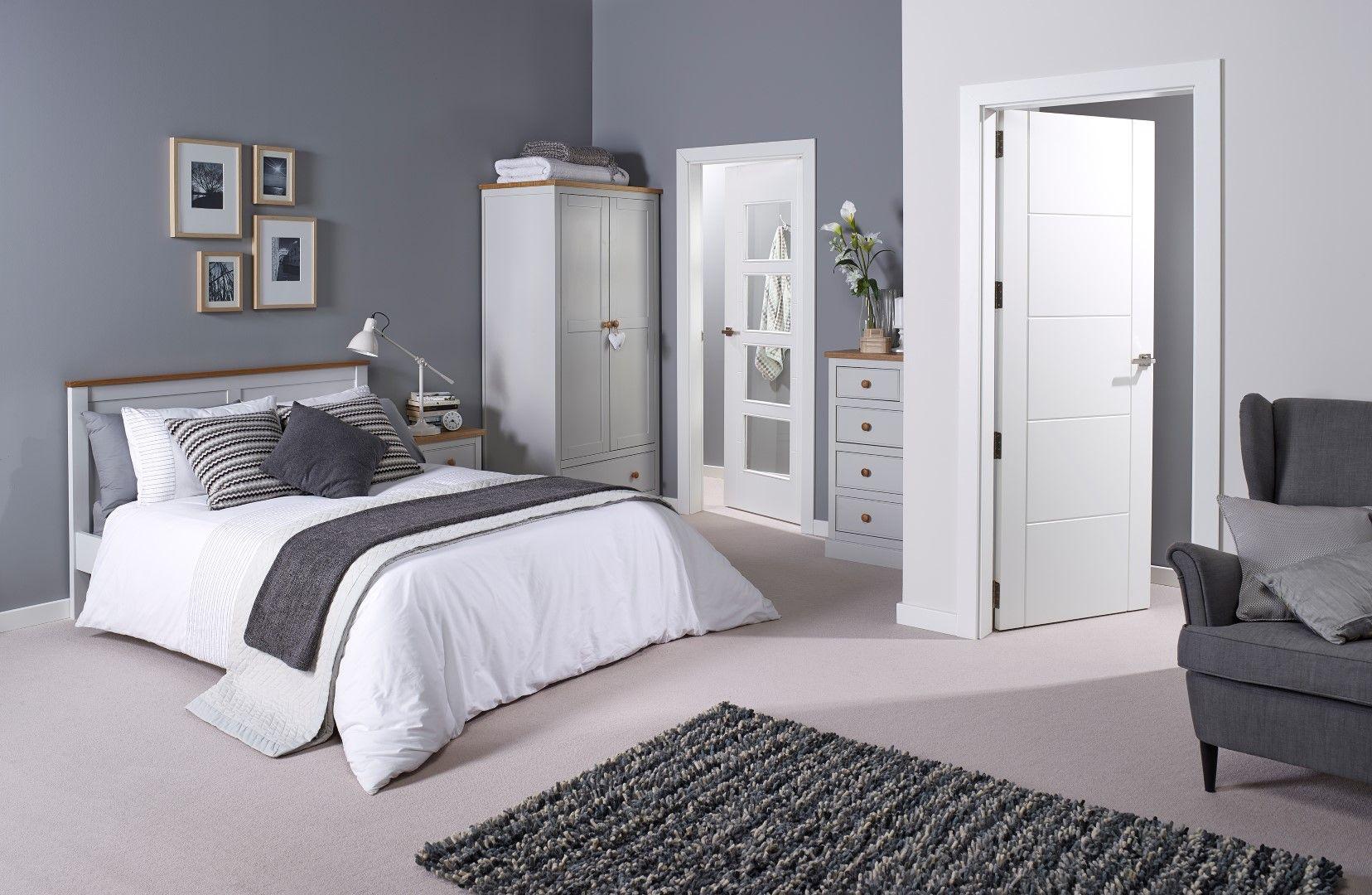 Doors | Dove grey bedroom, Modern grey bedroom, Grey home ...