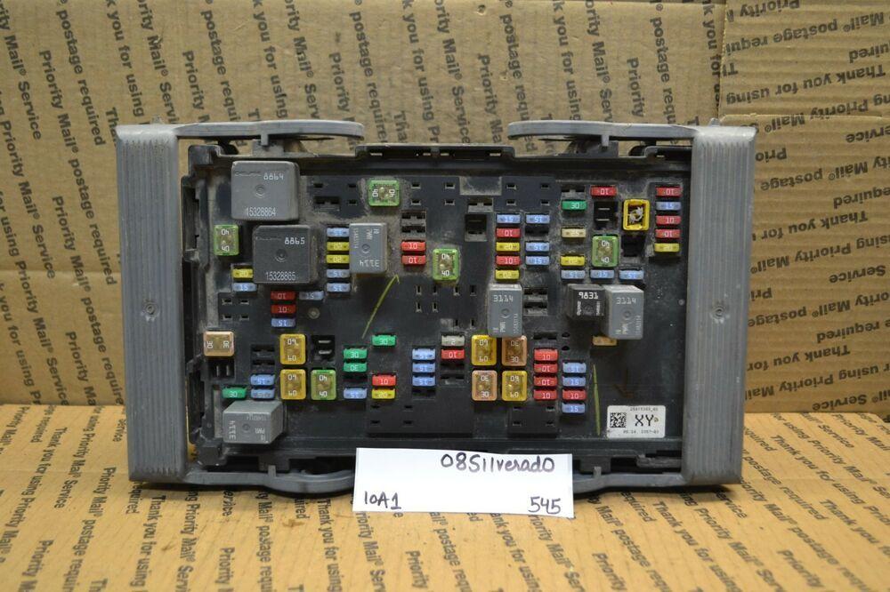 (sponsored ebay) 2007-2012 chevrolet silverado 1500 fuse box junction oe  25815389 module