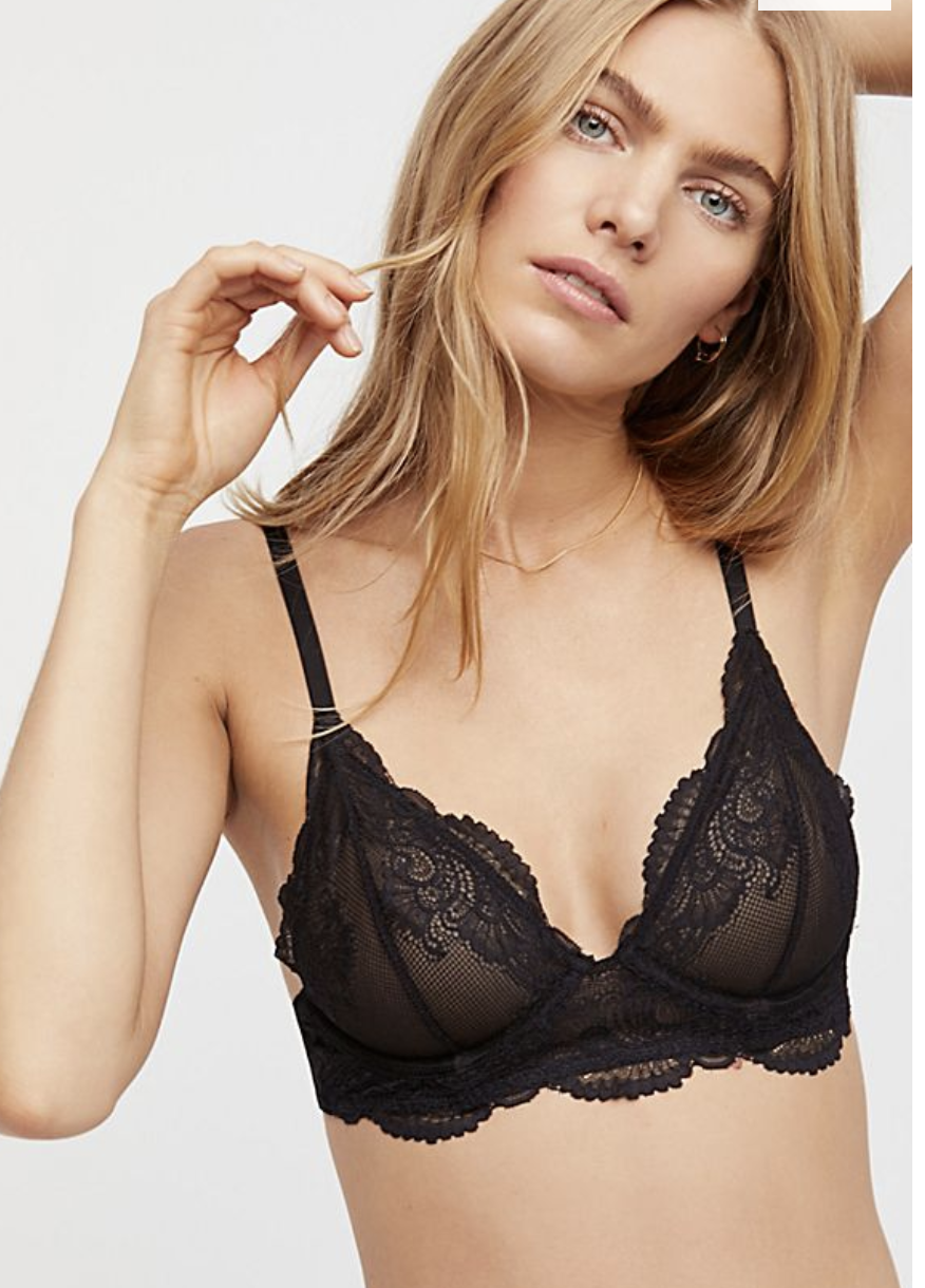 d8d9f4ff878 I need a black brallette that s not a halter top style. Free people has  good lace brallettes and sweaters