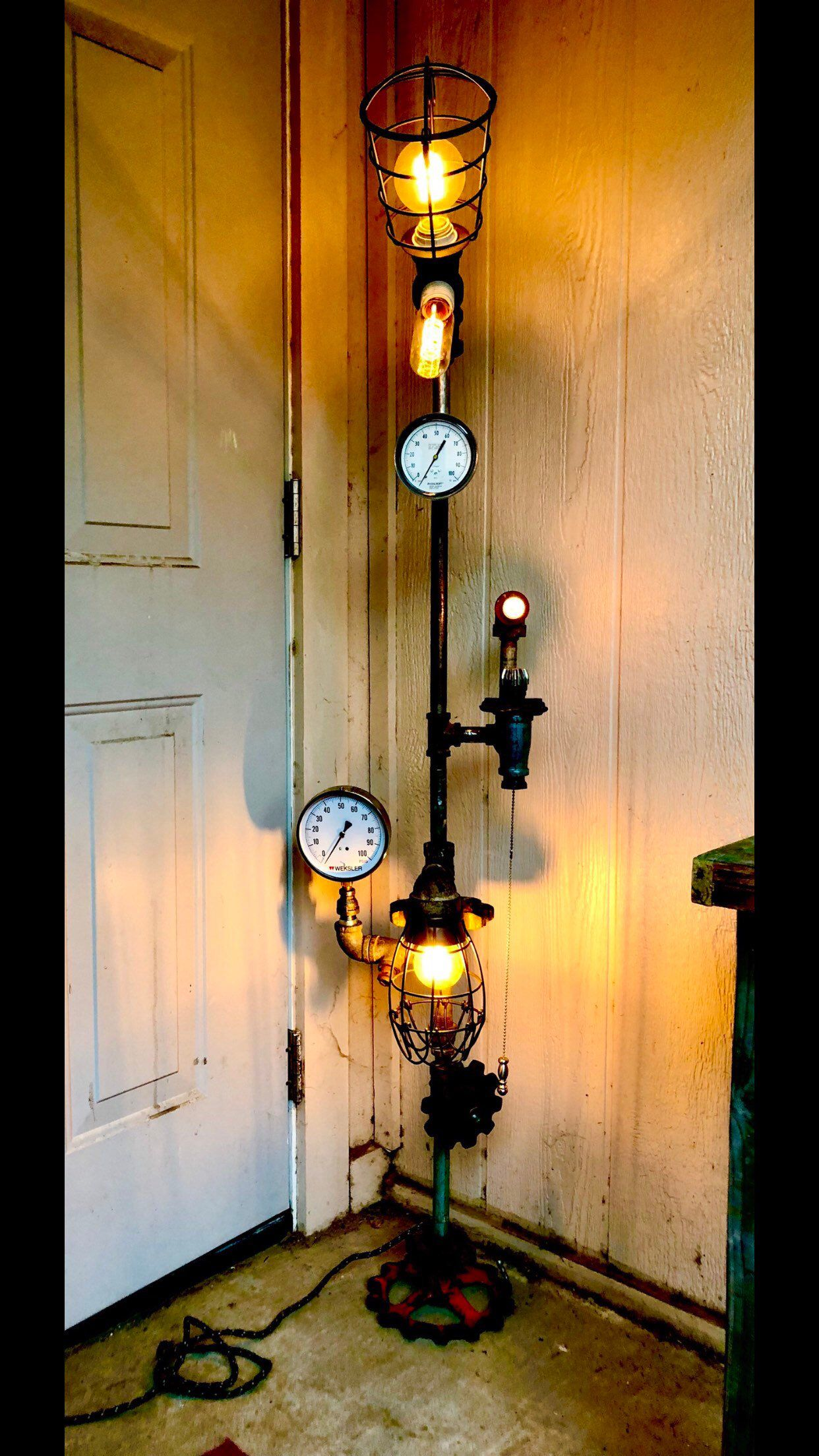 Pin On My Creations On Etsy Steampunk Lamp Industrial Lamp Edison