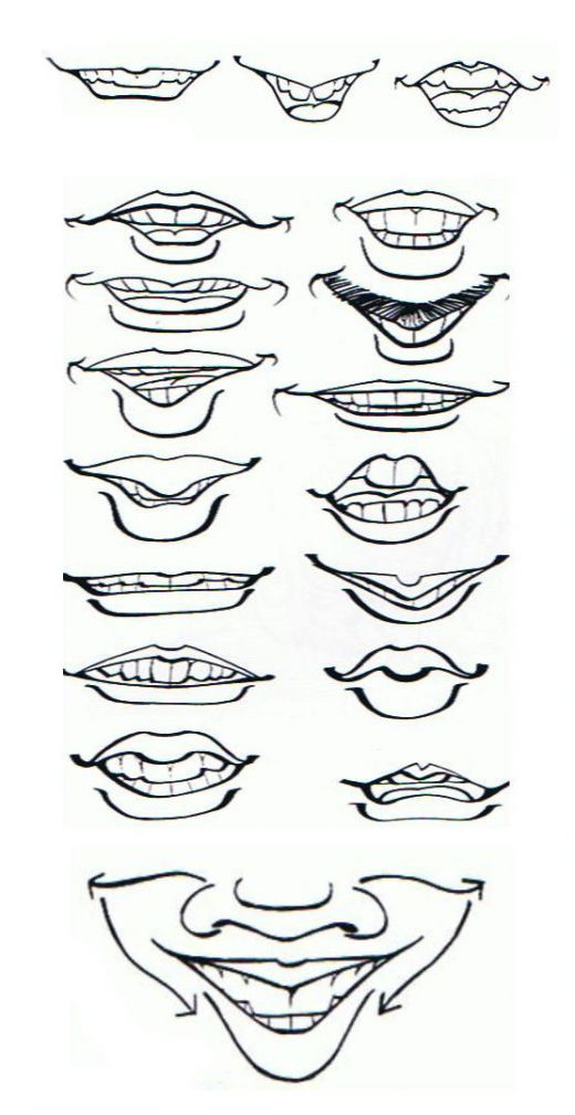 Face Caricature Drawing Lips Drawing Caricature