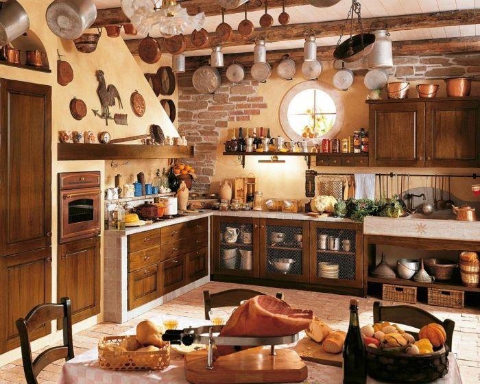 cocinas modernas pequeñas, cocina rustica con pared de piedra ...