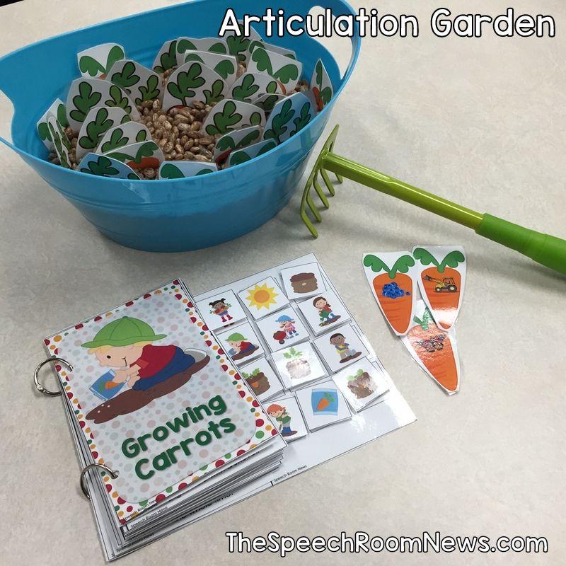 Articulation Garden Interactive Sensory Tub Activity