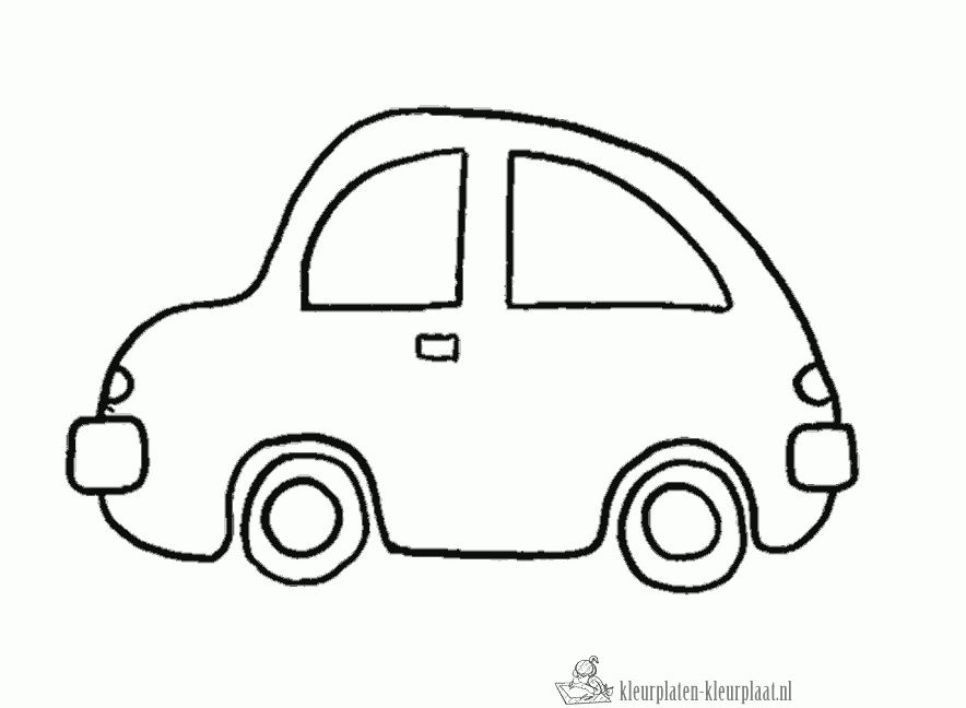 kleurplaat auto | illustrations - easy drawings, coloring pages en