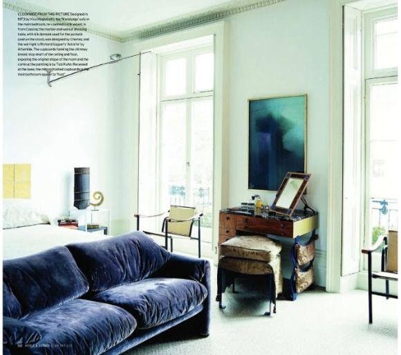 A Diary Of Lovely Blue Sofa Inspiration Blue Velvet Sofa Velvet Sofa