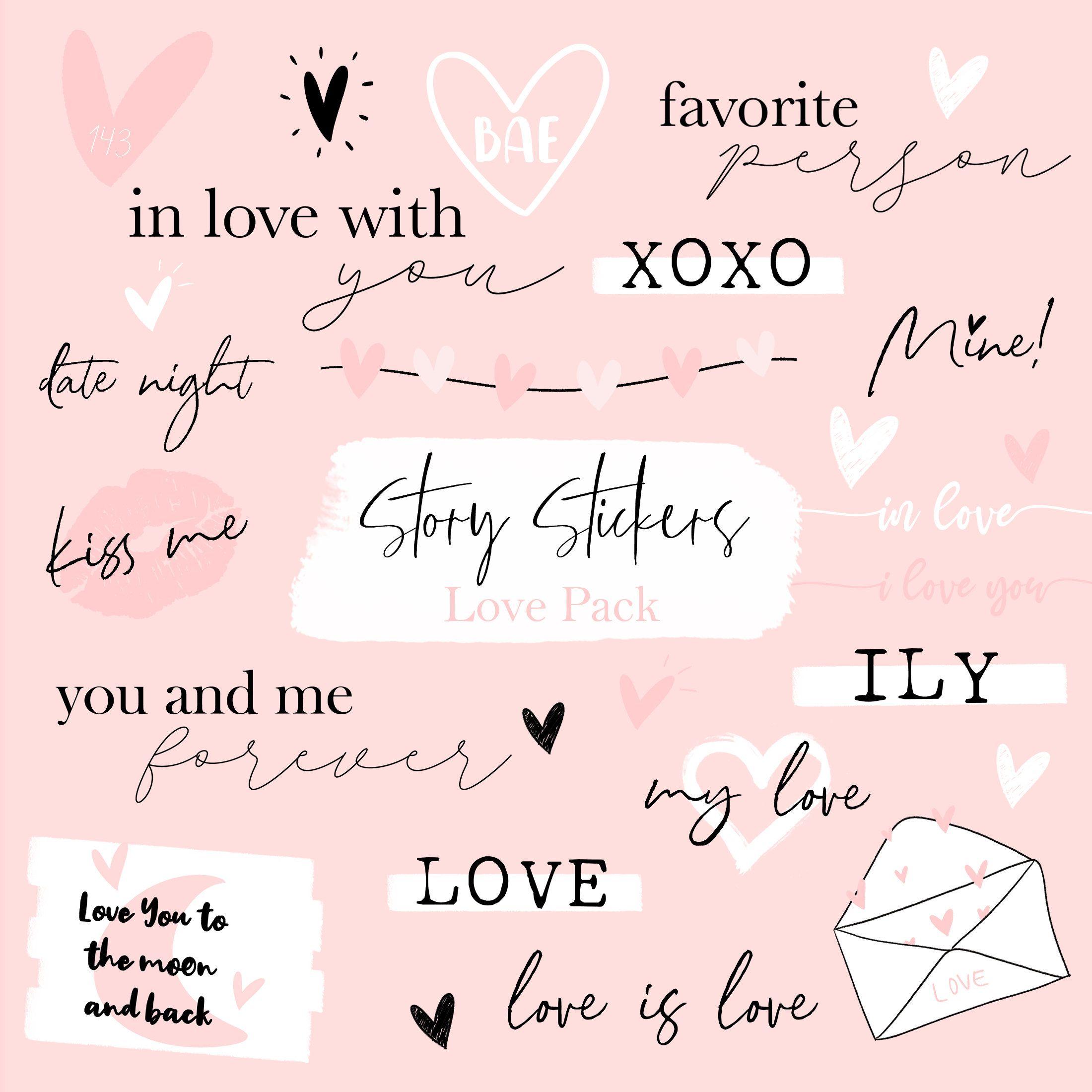Story Sticker Instagram Story Sticker Love Story Sticker 40 Stickers Instagram Story Instagram Stickers