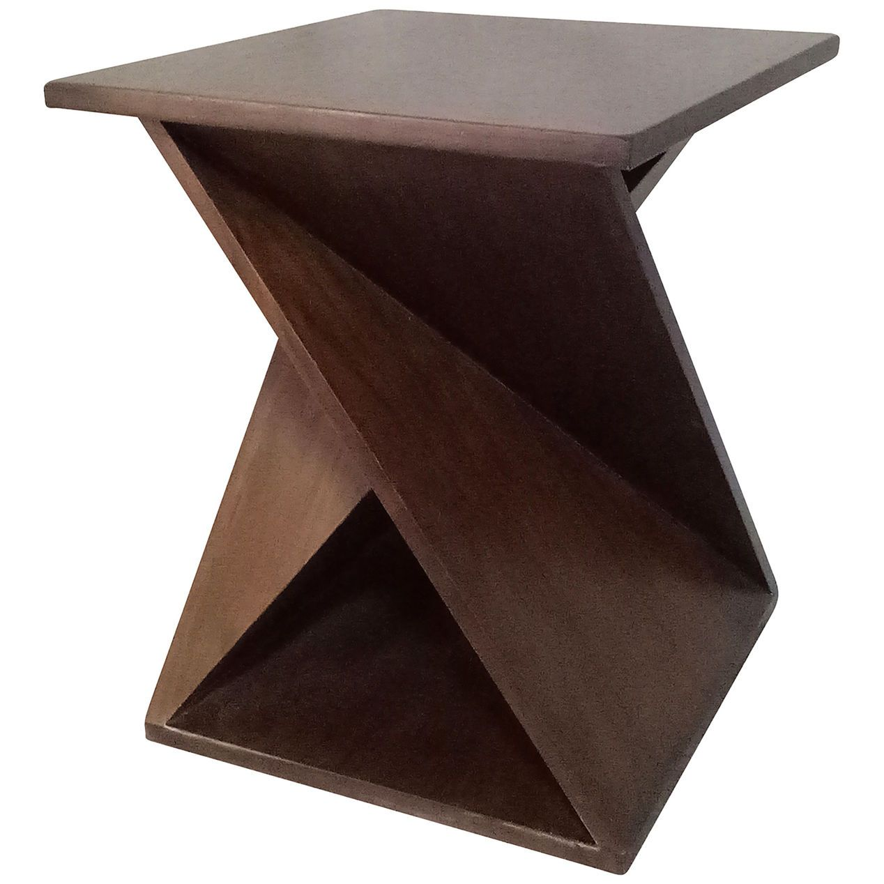 Twist End Table Brown End Tables At Home Store Accent Furniture