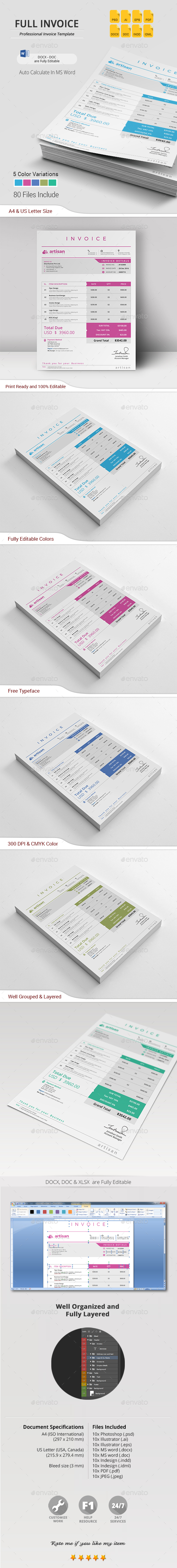 Invoice Template PSD  Vector EPS  InDesign INDD  AI Illustrator  MS     Invoice Template PSD  Vector EPS  InDesign INDD  AI Illustrator  MS Word
