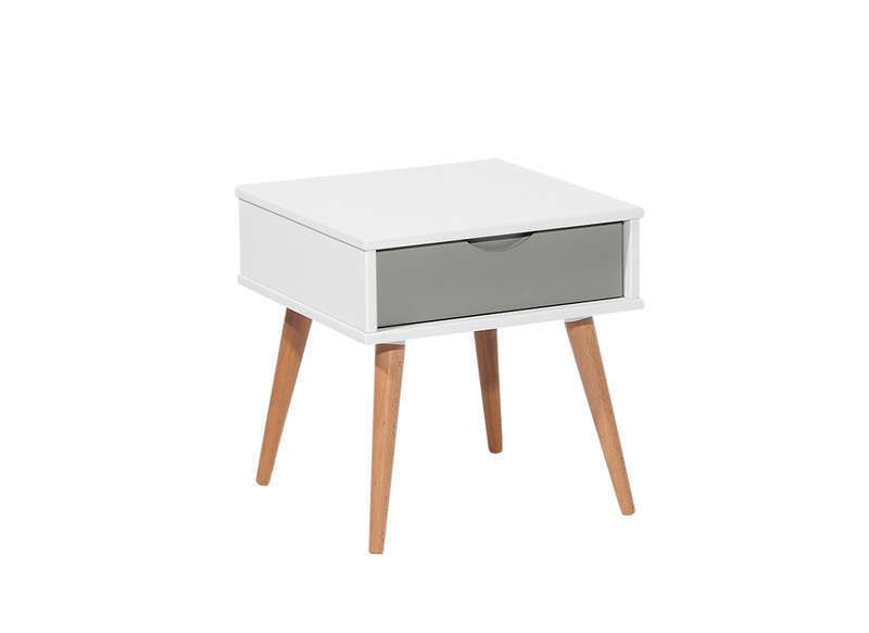Table de chevet scandinave blanc kennedy chevet chambre parent pinterest - Petite table de chevet ...