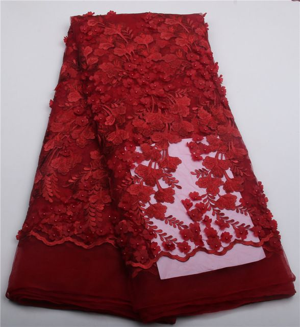 Upscale African Lace Fabric With Delicate Lace High Quality 3D ...