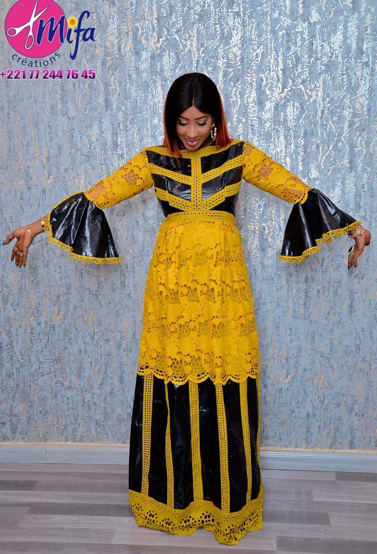 Robe africaine dentelle