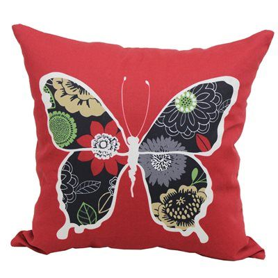 Garden Treasures Floral Butterfly Outdoor Throw Pillow Lowe's Beauteous Lowes Outdoor Decorative Pillows