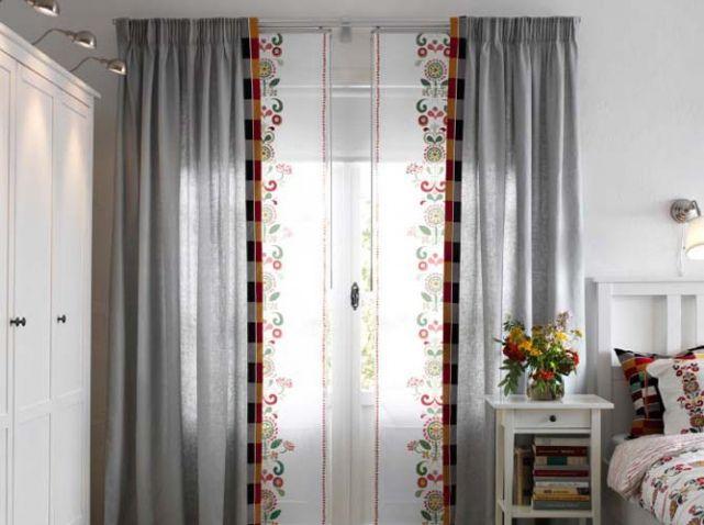 panneaux japonais rideaux fenetres ikea rideaux voilages curtains pinterest rideau. Black Bedroom Furniture Sets. Home Design Ideas