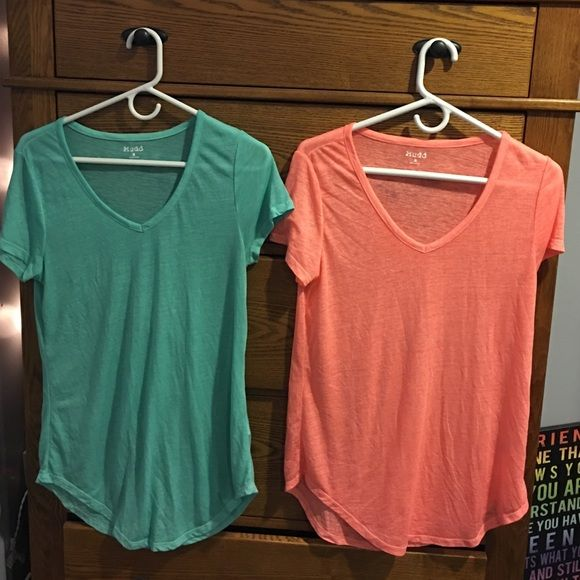 Two light shirts Coral & teal shirts Nike Tops Tees - Short Sleeve