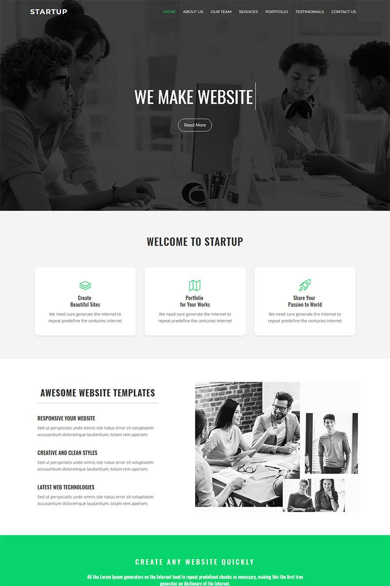Page Template Landing Page Corporate Website Templates