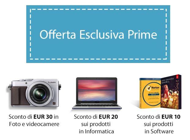 Offerta Esclusiva Amazon Prime 60Euro di buoni sconto gratis per te!!
