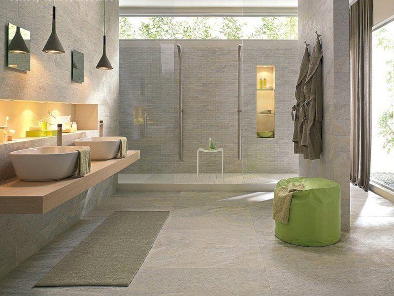 Faïence salle de bains u2013 88 des plus beaux carrelages design venant - carrelage en pierre naturelle salle de bain