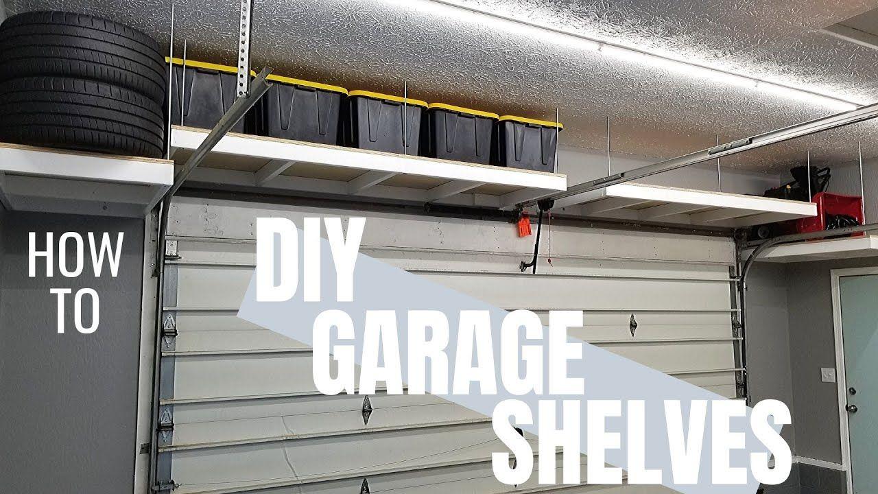 Awesome hanging garage shelves diy garage storage