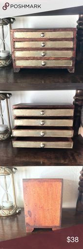 Vintage mini jewelry drawer Preloved Vintage mini jewelry drawer Please note the minor flawchip as shown on the last picture A nail is exposed but doesnt affect exterior...