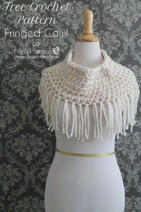 Free Fringe Cowl Crochet Pattern | Pinterest | Patrones de crochet ...