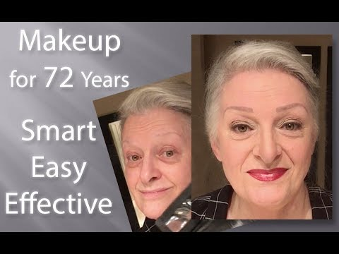 makeup tutorial for the 72 year old  fast easy