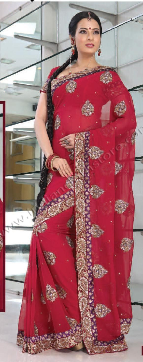 Saree blouse design for chiffon saree  red chiffon saree  with unstitched blouse  things to