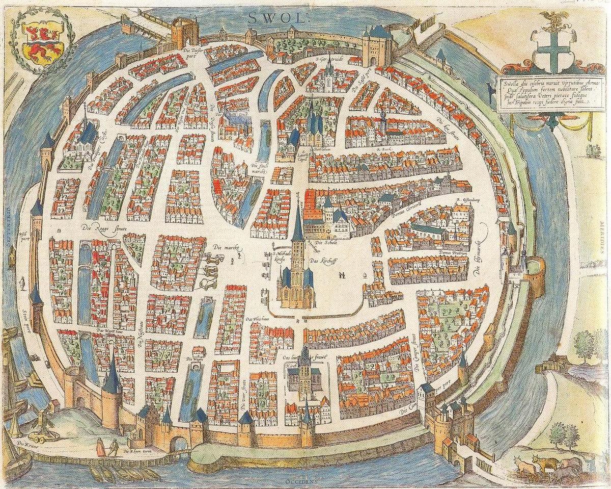 Zwolle ca 1650 PLATTEGRONDEN CARTOGRAPHY Pinterest Medieval