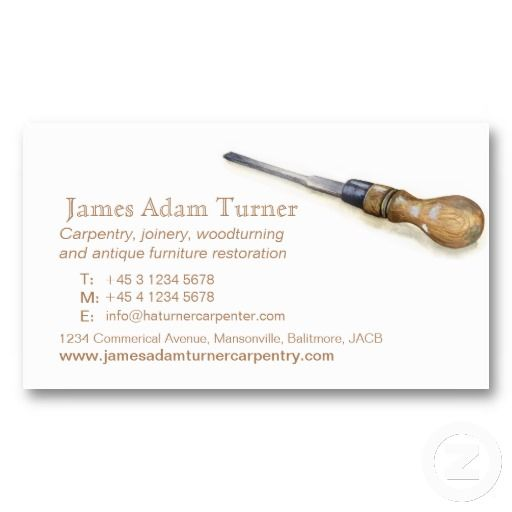 Carpentry carpenter chisel art business card | Zazzle.com ...