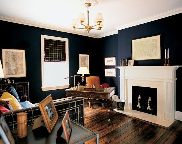 Home Office Ideas Dark Wood