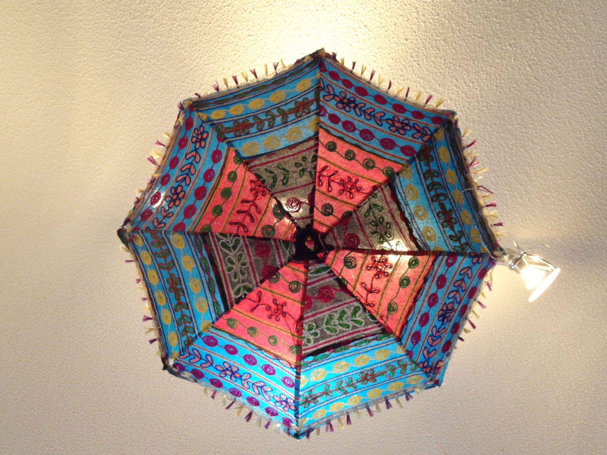 Indias fabric umbrella lamp shade colorful ethnic embroidered indias fabric umbrella lamp shade colorful ethnic embroidered ceiling lampshade decor ornament ethnic decor mozeypictures Images