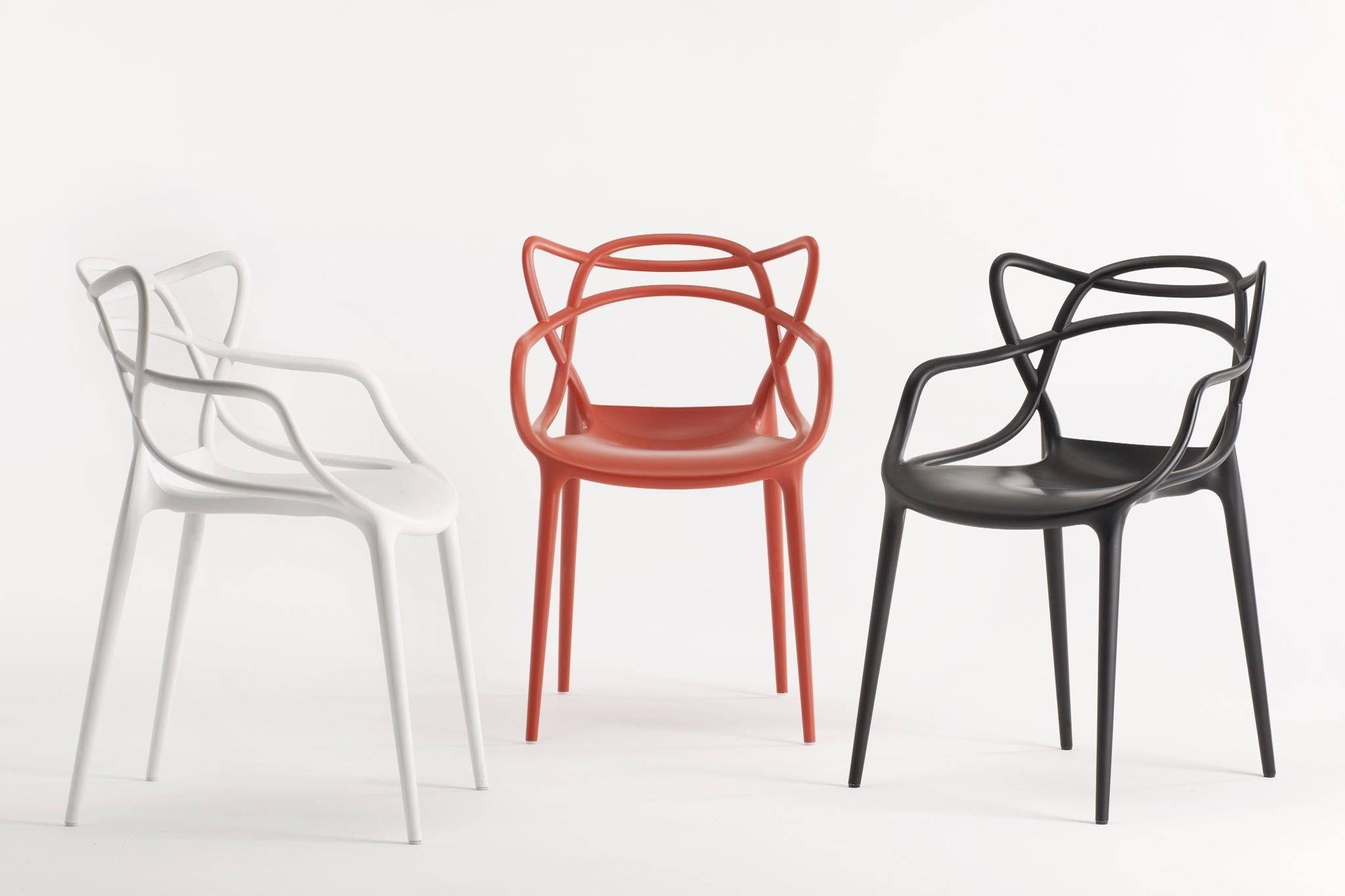 Philippe Starck and Eugeni Quitlet s curvaceous Masters chair pays homage to contemporary design icons Arne Jacobsen Eero Saarinen and Charles Eames